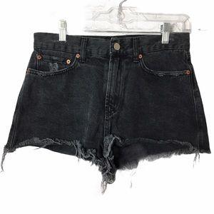 BDG Cheeky High Rise Distressed Shorts W29